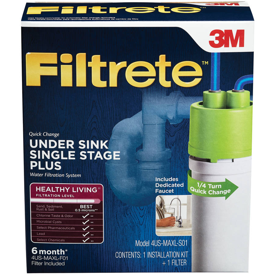Filtrete Under Sink System with Dedicated Faucet (Sediment, CTO, Cysts, Lead, Pharmaceuticals & Select VOCs)