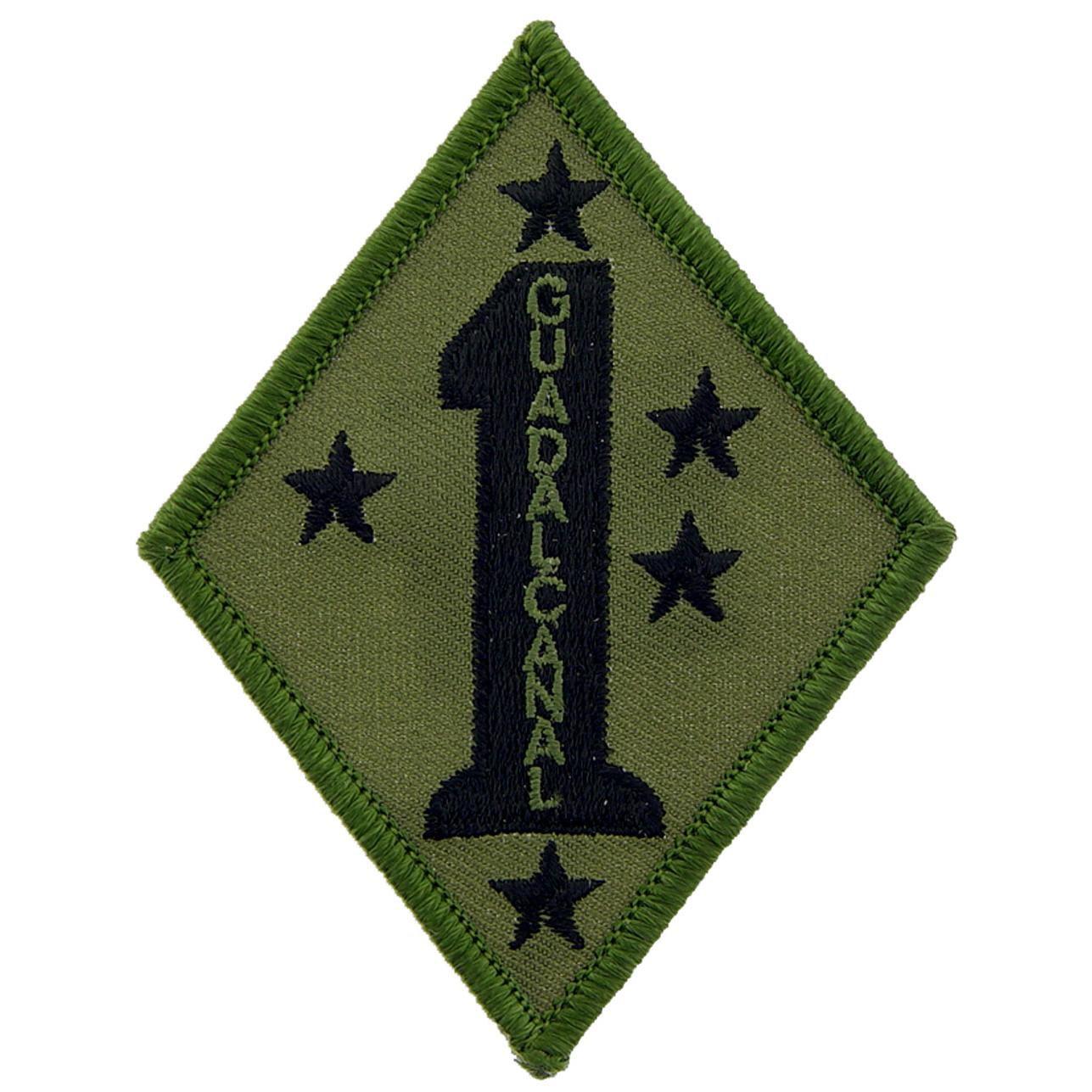 "U.S.M.C. 1st Marine Division Patch Green 3"""
