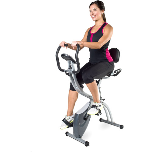 easyFiT Folding Magnetic 2-in-1 Exercise Bike with Pulse Sensors