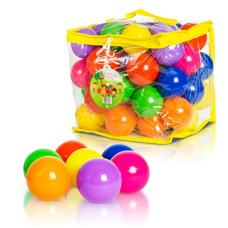 Soft Plastic Kids Play Balls for Ball Pit, Kiddie Pool, Playpen – 50 Balls](Plastic Balls In Bulk)