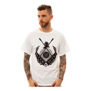 Black Scale Mens The Moral Order 2 Graphic T-Shirt, white, Small