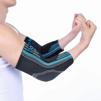 Doc Miller Premium Elbow Brace Compression Sleeve - 1 Pair Tennis Elbow Brace, Crucial Golfer's Elbow Support, Arthritis and Tendinitis Stability Basketball Gym Weightlifting BLUE
