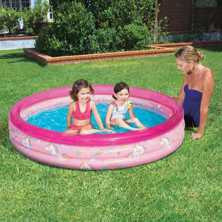 Play Day 3-Ring Inflatable Play Kids Swimming Pool,