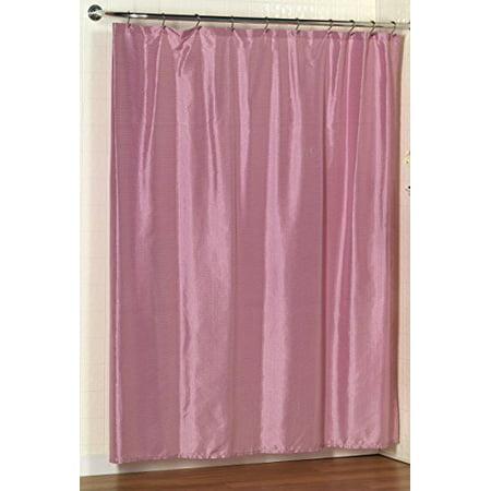 Royal Bath Collection Diamond Piqued Dobby Fabric Shower Curtain 70  X 72   Rose