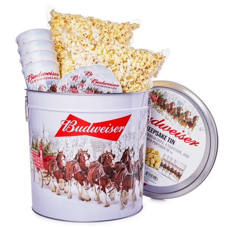 Budweiser Giant Keepsake Tin Christmas Gift, 11 Pieces ()