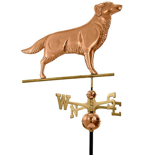 Good Directions Golden Retriever Weathervane, Polished Copper by Good Directions