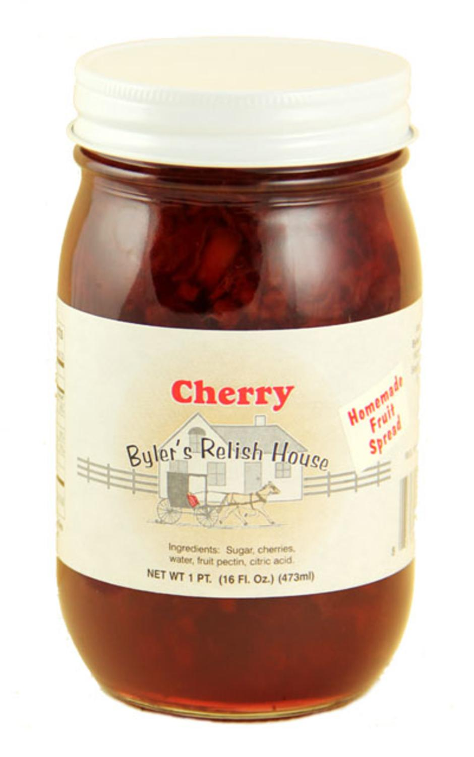 Byler's Relish House Homemade Amish Country Cherry Jam Fruit Spread 16 oz. by Byler's Relish House