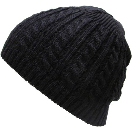 Cable Knit Beanie Solid Witner Ski Hat