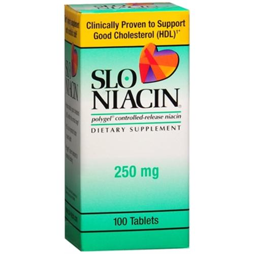 Slo-Niacin 250 mg Tablets 100 Tablets (Pack of 4)