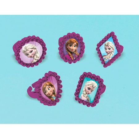 Frozen Jewel Rings / Favors (5ct)](Frozen Plastic Rings)
