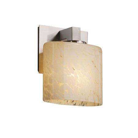 Justice Designs Fusion Modular 1-LT Wall Sconce - Brushed Nickel - FSN-8931-30-DROP-NCKL