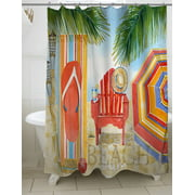 Thumbprintz Beach Medley Shower Curtain