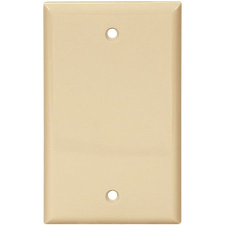 Cooper 5129V Ivory Unbreakable Single Gang Blank Box Mount Wall Plate