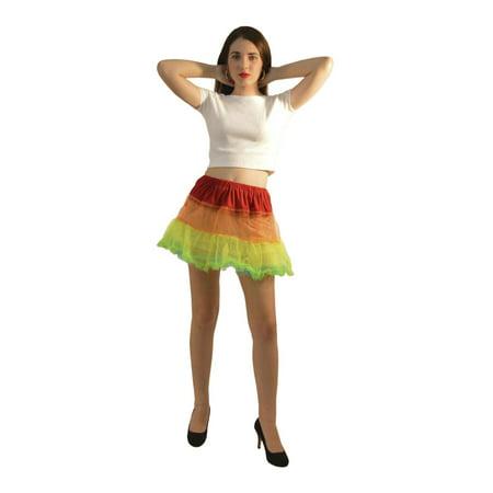 Rainbow Colored Petticoat Tutu for Women - Rainbow Tutu Adult