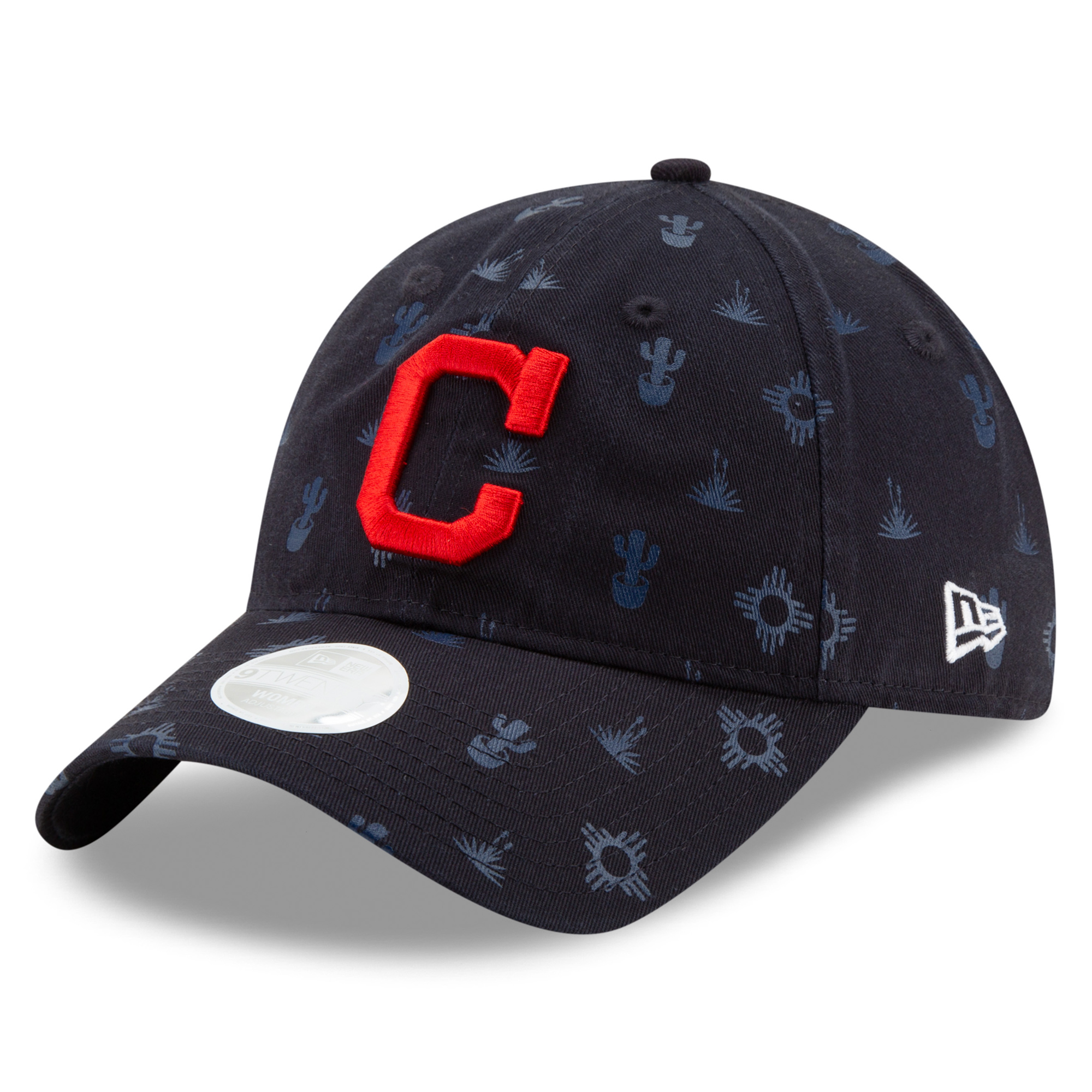 Cleveland Indians New Era Women's Tonal Team Novelty 9TWENTY Adjustable Hat - Navy - OSFA