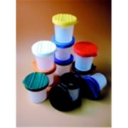 Creativity Street No-Spill Round Cup Plastic Paint Pot Set - 3.5 W in. - Set 10