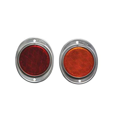 Round Reflector (70-0030-02 Round Color Reflector, Amber)
