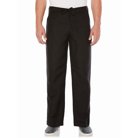CubAvera Mens Solid Linen Casual Trousers