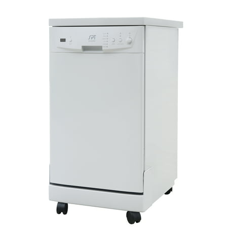 "Sunpentown 18"" Portable Dishwasher with Energy Star in White"