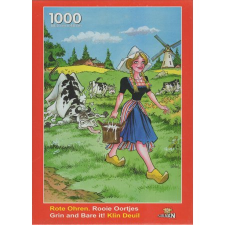 Adult Milkmaid (Puzzleman 1000 Piece Puzzle - Grin and Bare it!:)