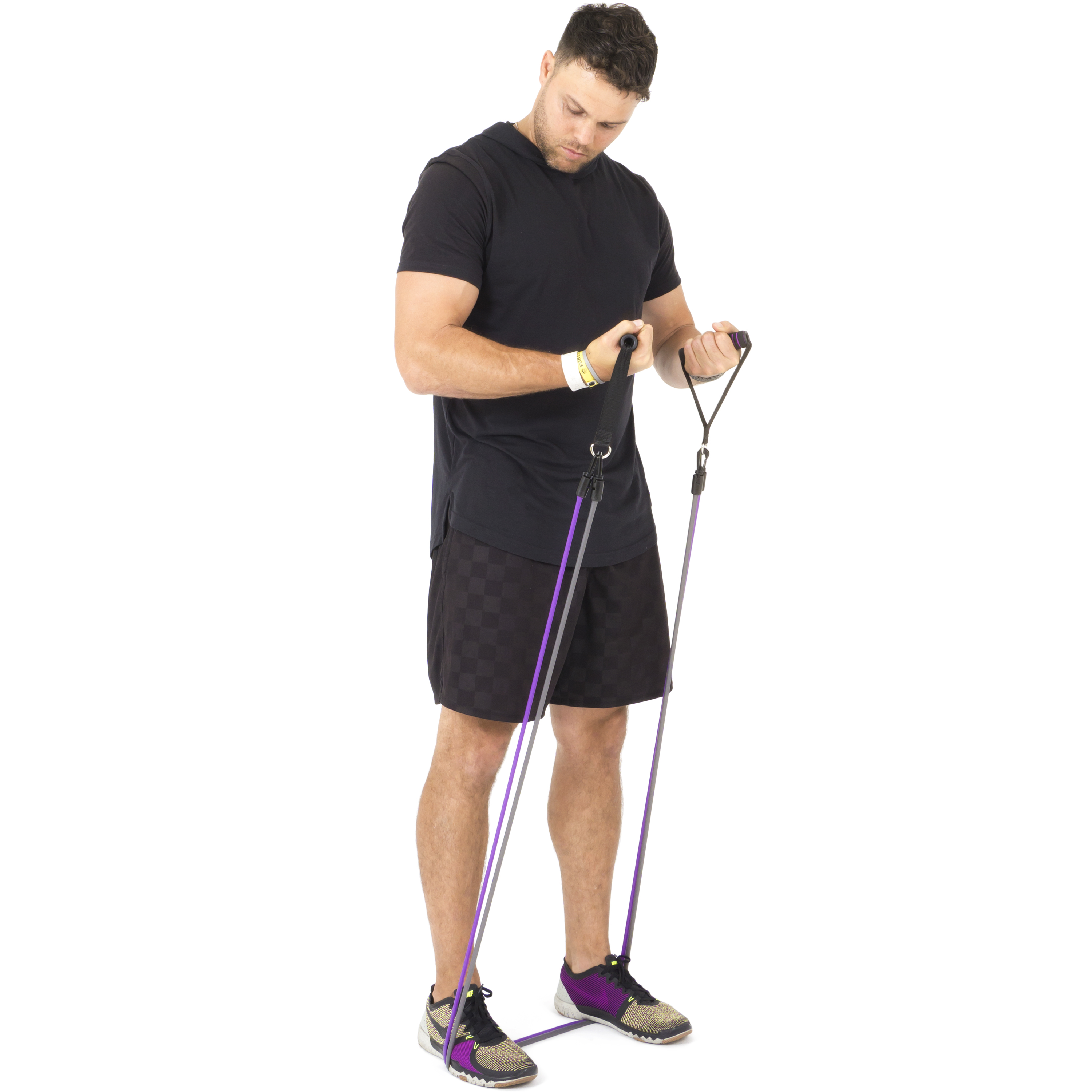 Planet Fitness Resistance Tube Band Set of 3 Stackable Bands with ...