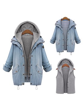 985b16d08773e Product Image Winter Womens Warm Collar Hooded Long Coat Jacket Denim  Trench Parka Outwear Hot