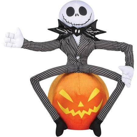 Gemmy Sun Star SS50966G Halloween Greeter Jack Skellington sur le d-cor citrouille - image 1 de 1
