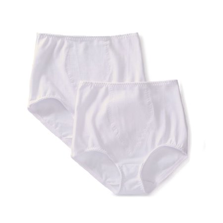 Women's Bali X037 Light Control Stretch Cotton Brief Panty - 2 Pack