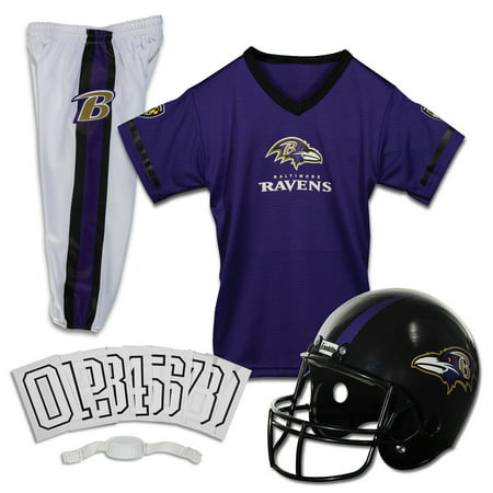 Franklin Sports NFL Baltimore Ravens Youth Licensed Deluxe Uniform Set, (Baltimore Ravens Logo Jersey)