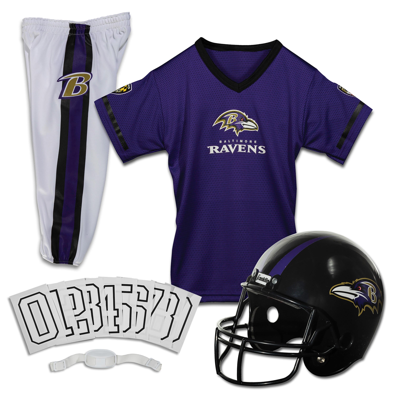 Franklin Sports NFL Baltimore Ravens Youth Licensed Deluxe Uniform Set, Medium