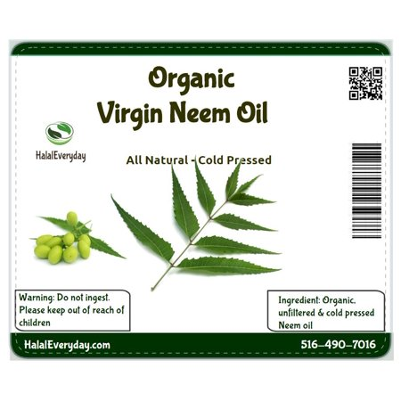 Organic Neem oil 100% pure cold pressed - 8 oz