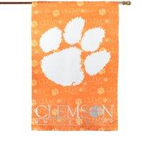 "Clemson Tigers 29"" x 43"" Glitter Suede House Vertical Flag"
