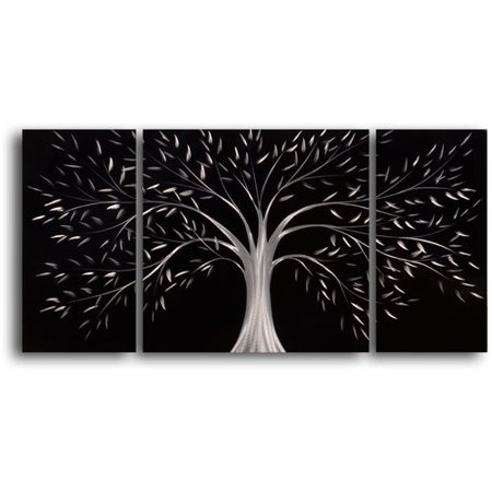 My Art Outlet Moonlit Gothic Tree 3 Piece Graphic Art