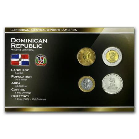 Dominican Republic 1 Peso - 25 Pesos 4-Coin Set BU ()