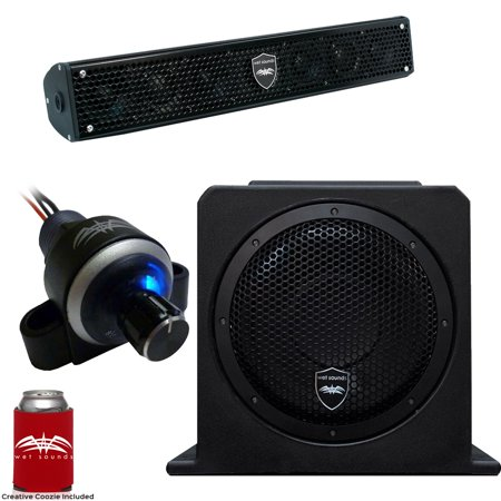 Wet Sounds Stealth 6 Surge Sound Bar w/ WW-BTVC Bluetooth Controller and AS-10 10