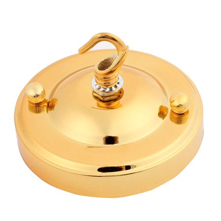 110mm Dia Pendant Lamp Ceiling Plate Chassis Base Gold Tone w Lock Line Buckle](Gold On The Ceiling Chords)