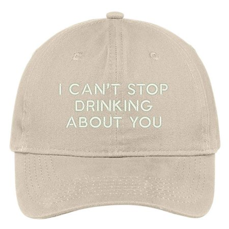 Trendy Apparel Shop I Can't Stop Drinking About You Embroidered Brushed Cotton Adjustable Cap Dad Hat - Stone Croton Womens Quartz Stone