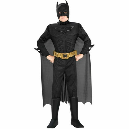 Batman Halloween Costume For Men (Batman The Dark Knight Rises Deluxe Muscle Chest Child Halloween)
