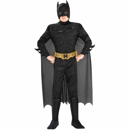 Old School Batman Halloween Costumes (Batman The Dark Knight Rises Deluxe Muscle Chest Child Halloween)