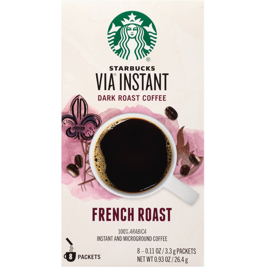 Starbucks VIA Ready Brew French Roast Instant Coffee, 8-Pack