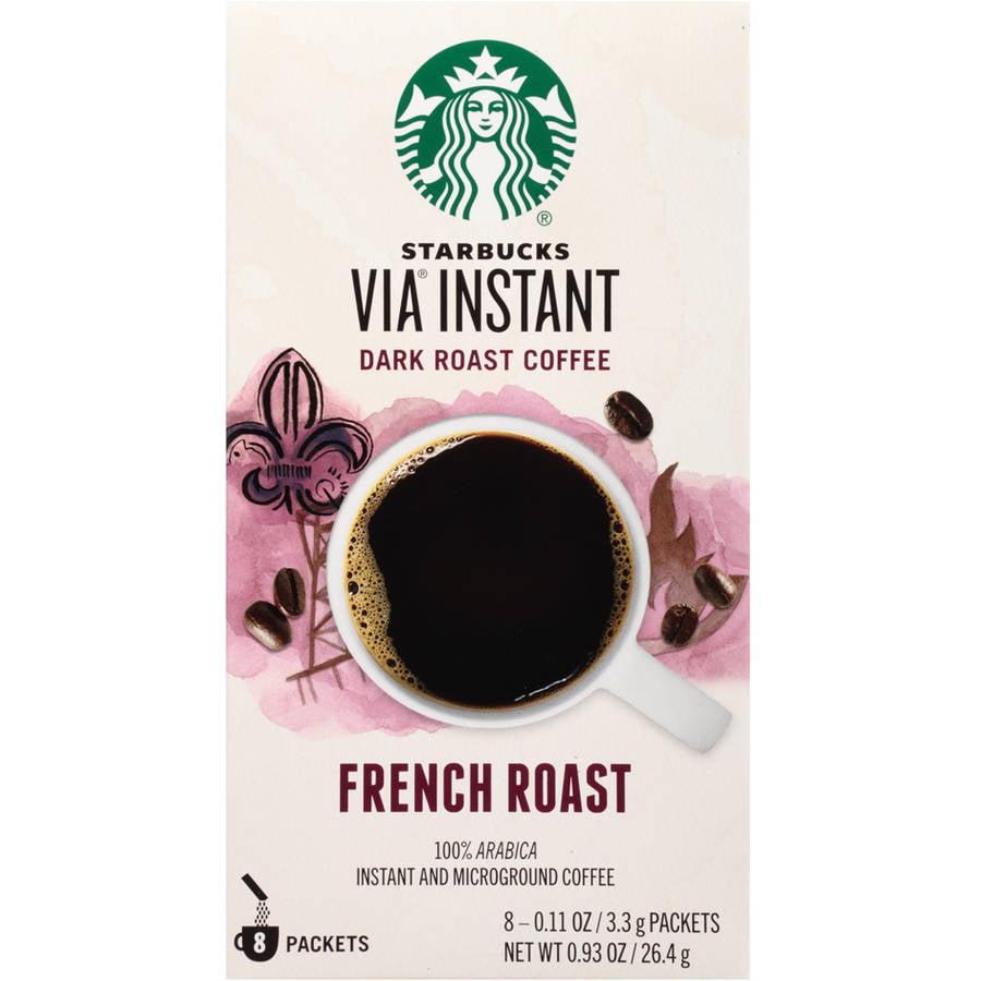 Starbucks VIA Ready Brew French Roast Instant Coffee, 8-Pack