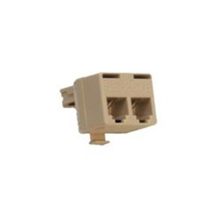Suttle SE-267B 2-line Split Inline Adapter With 1&6 Parallel - Ivory