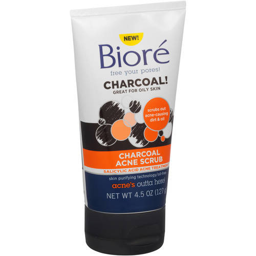 Biore Charcoal Acne Scrub, 4.5 oz
