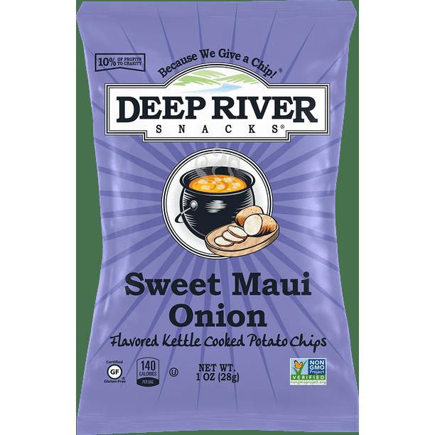 Deep River Snacks Sweet Maui Onion Kettle Chips 1oz 80