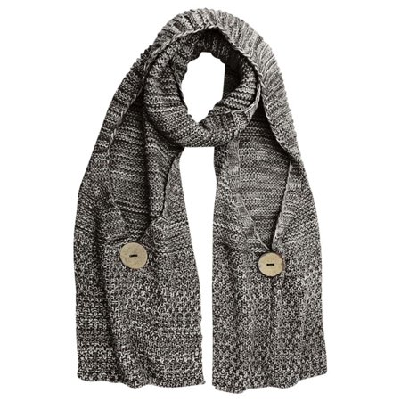 Gradient Knit Buttoned Pocket Long Winter - Knit Wool Long Scarf