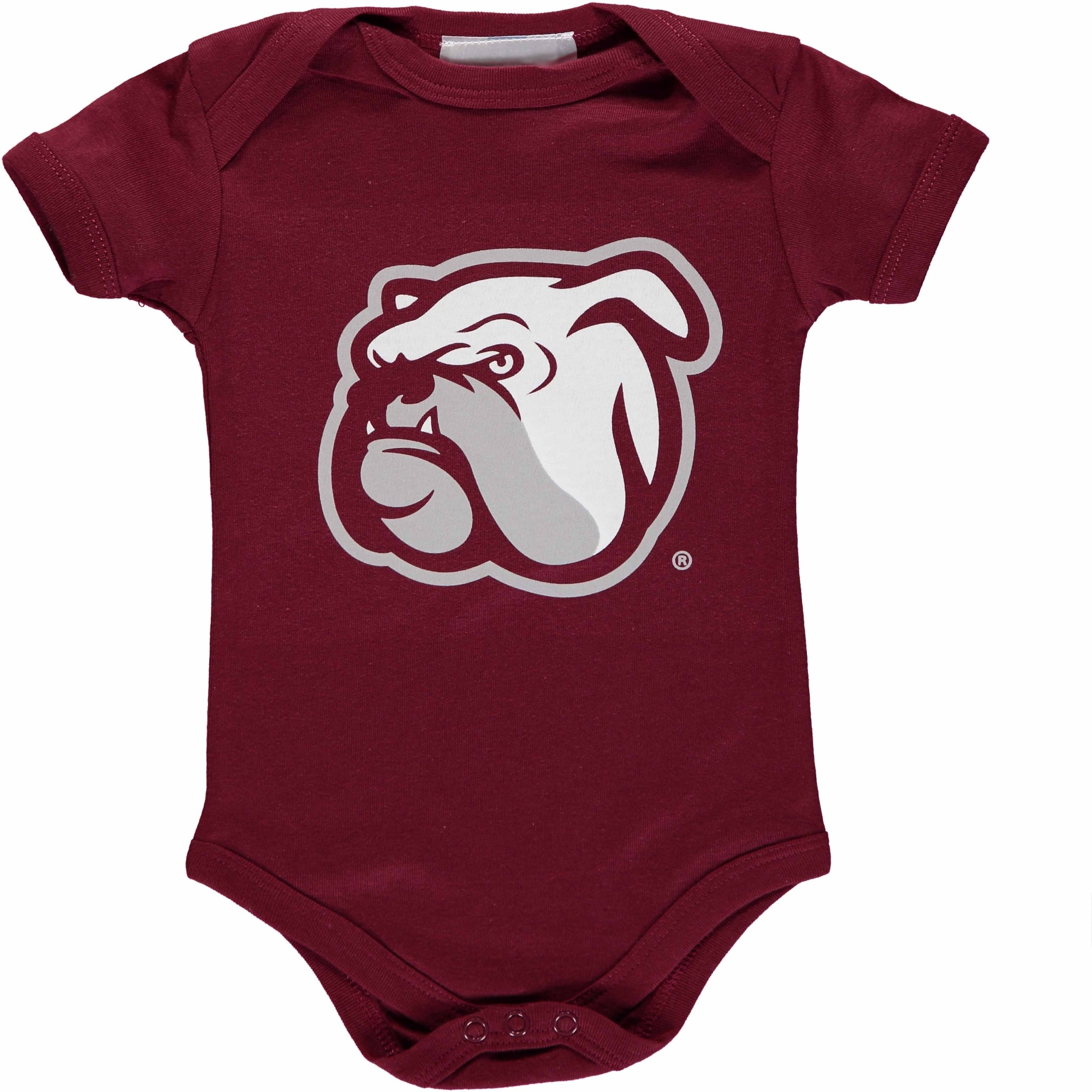 12 Months Maroon Two Feet Ahead NCAA Mississippi State Bulldogs Infant Polka Dot Footed Creeper Dress
