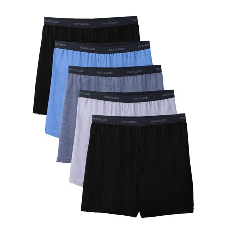 Fruit of the Loom Mens Beyondsoft Knit Boxers, 5 Pack