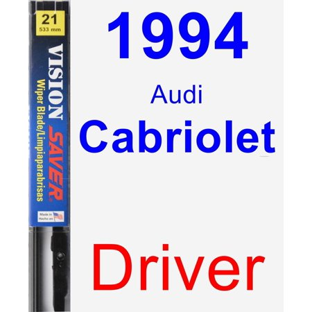1994 Audi Cabriolet Brake - 1994 Audi Cabriolet Driver Wiper Blade - Vision Saver
