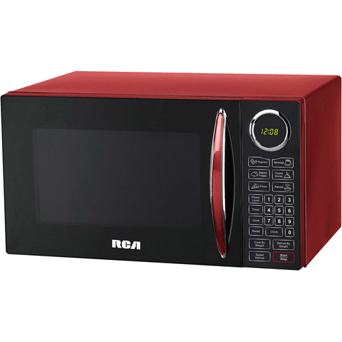 RCA, 0.9 cu ft Microwave, Red