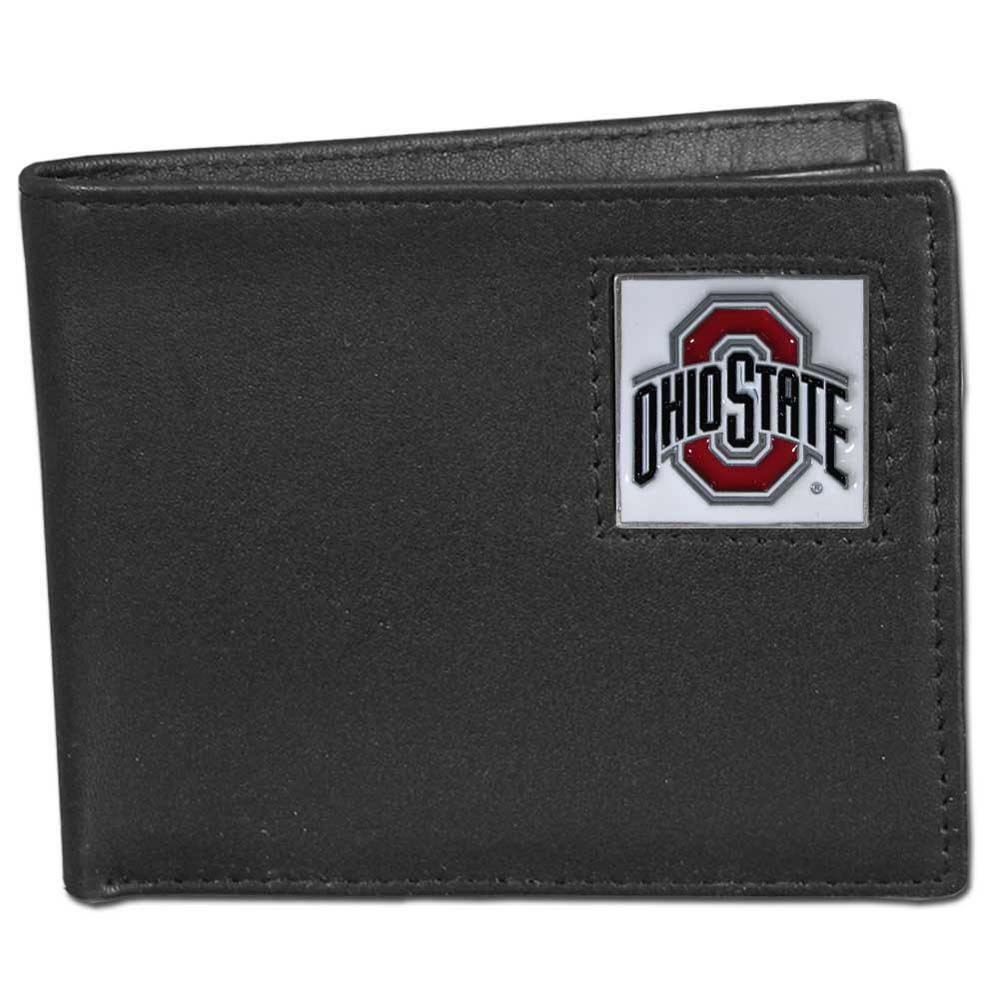 NCAA - Siskiyou - Bi-Fold Leather Wallet - Ohio State Buckeyes